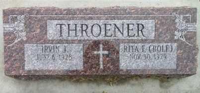 THROENER, IRVIN - Cuming County, Nebraska   IRVIN THROENER - Nebraska Gravestone Photos