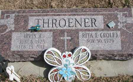 THROENER, IRVIN J. - Cuming County, Nebraska | IRVIN J. THROENER - Nebraska Gravestone Photos
