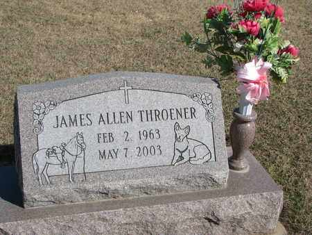 THROENER, JAMES ALLEN - Cuming County, Nebraska | JAMES ALLEN THROENER - Nebraska Gravestone Photos