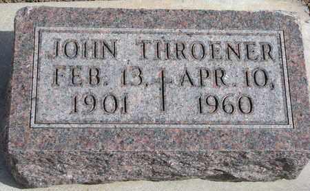 THROENER, JOHN - Cuming County, Nebraska   JOHN THROENER - Nebraska Gravestone Photos