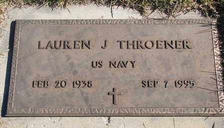 THROENER, LAUREN J. (MILITARY) - Cuming County, Nebraska | LAUREN J. (MILITARY) THROENER - Nebraska Gravestone Photos
