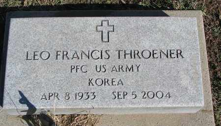 THROENER, LEO FRANCIS - Cuming County, Nebraska | LEO FRANCIS THROENER - Nebraska Gravestone Photos