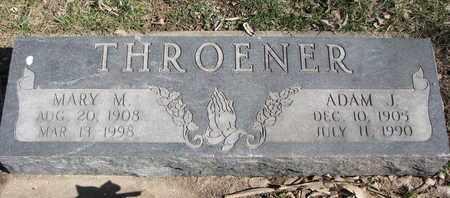 THROENER, MARY M. - Cuming County, Nebraska | MARY M. THROENER - Nebraska Gravestone Photos