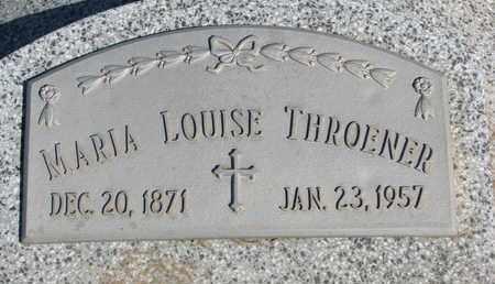 THROENER, MARIA LOUISE - Cuming County, Nebraska   MARIA LOUISE THROENER - Nebraska Gravestone Photos