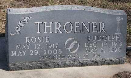 THROENER, RUDOLPH - Cuming County, Nebraska | RUDOLPH THROENER - Nebraska Gravestone Photos