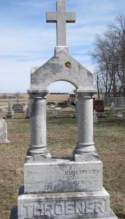 THROENER, MARIA - Cuming County, Nebraska | MARIA THROENER - Nebraska Gravestone Photos