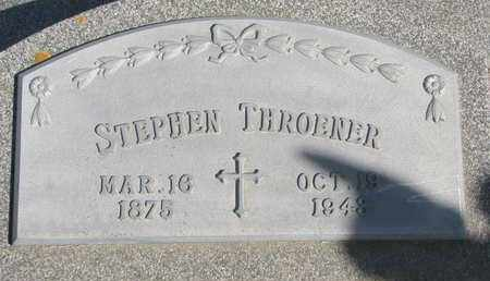 THROENER, STEPHEN - Cuming County, Nebraska   STEPHEN THROENER - Nebraska Gravestone Photos