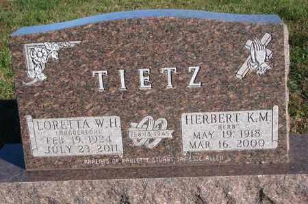 TIETZ, LORETTA W.H. - Cuming County, Nebraska | LORETTA W.H. TIETZ - Nebraska Gravestone Photos