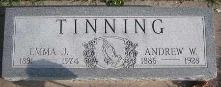 TINNING, ANDREW W. - Cuming County, Nebraska | ANDREW W. TINNING - Nebraska Gravestone Photos