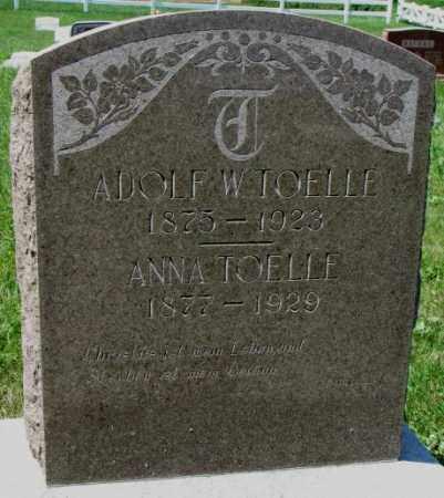 TOELLE, ADOLF - Cuming County, Nebraska   ADOLF TOELLE - Nebraska Gravestone Photos