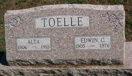 TOELLE, EDWIN C. - Cuming County, Nebraska | EDWIN C. TOELLE - Nebraska Gravestone Photos