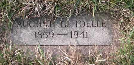 TOELLE, AUGUST G. - Cuming County, Nebraska | AUGUST G. TOELLE - Nebraska Gravestone Photos