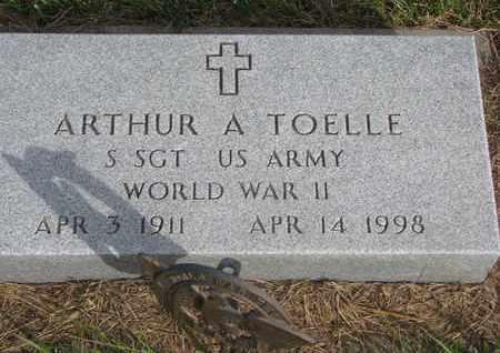 TOELLE, ARTHUR A. (MILITARY MARKER) - Cuming County, Nebraska | ARTHUR A. (MILITARY MARKER) TOELLE - Nebraska Gravestone Photos