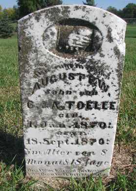 TOELLE, AUGUST F.W. - Cuming County, Nebraska | AUGUST F.W. TOELLE - Nebraska Gravestone Photos