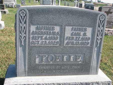 TOELLE, AUGUSTA W.S. - Cuming County, Nebraska | AUGUSTA W.S. TOELLE - Nebraska Gravestone Photos