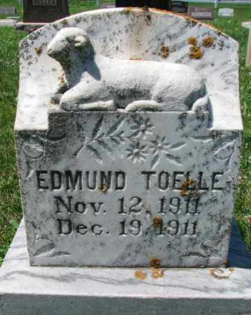 TOELLE, EDMUND - Cuming County, Nebraska | EDMUND TOELLE - Nebraska Gravestone Photos