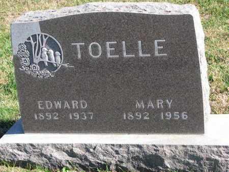 TOELLE, EDWARD - Cuming County, Nebraska | EDWARD TOELLE - Nebraska Gravestone Photos