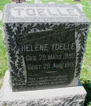 TOELLE, HELENE - Cuming County, Nebraska | HELENE TOELLE - Nebraska Gravestone Photos