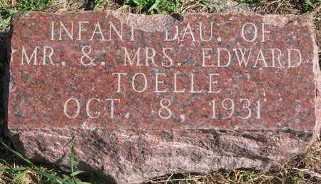 TOELLE, (INFANT DAUGHTER) - Cuming County, Nebraska | (INFANT DAUGHTER) TOELLE - Nebraska Gravestone Photos