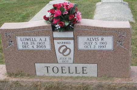 TOELLE, LOWELL A.J. - Cuming County, Nebraska | LOWELL A.J. TOELLE - Nebraska Gravestone Photos