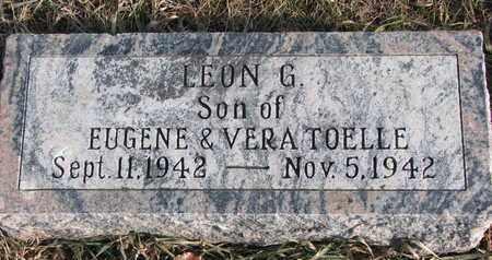 TOELLE, LEON G. - Cuming County, Nebraska   LEON G. TOELLE - Nebraska Gravestone Photos