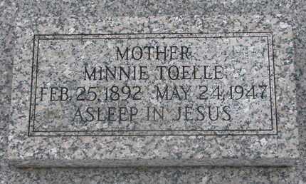 TOELLE, MINNIE - Cuming County, Nebraska | MINNIE TOELLE - Nebraska Gravestone Photos
