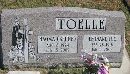 TOELLE, NAOMA - Cuming County, Nebraska | NAOMA TOELLE - Nebraska Gravestone Photos