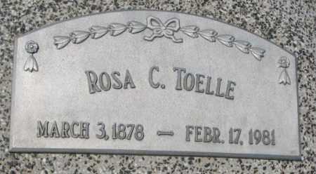 TOELLE, ROSA C. - Cuming County, Nebraska | ROSA C. TOELLE - Nebraska Gravestone Photos