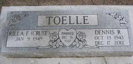 TOELLE, RILLA F. - Cuming County, Nebraska | RILLA F. TOELLE - Nebraska Gravestone Photos