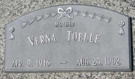 TOELLE, VERNA - Cuming County, Nebraska   VERNA TOELLE - Nebraska Gravestone Photos