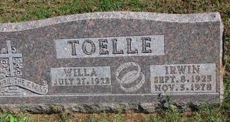 TOELLE, IRWIN - Cuming County, Nebraska   IRWIN TOELLE - Nebraska Gravestone Photos