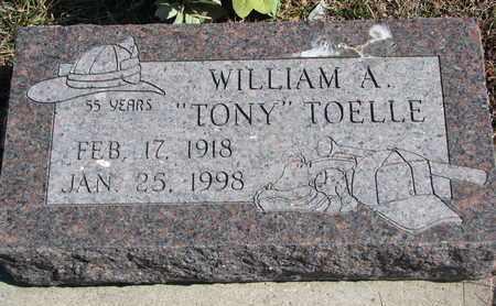 "TOELLE, WILLIAM A. ""TONY"" - Cuming County, Nebraska | WILLIAM A. ""TONY"" TOELLE - Nebraska Gravestone Photos"