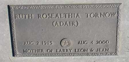 ADAIR TORNOW, RUTH ROSEALTHIA - Cuming County, Nebraska | RUTH ROSEALTHIA ADAIR TORNOW - Nebraska Gravestone Photos