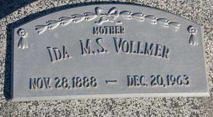 VOLLMER, IDA M.S. - Cuming County, Nebraska | IDA M.S. VOLLMER - Nebraska Gravestone Photos