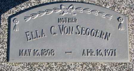 VON SEGGERN, ELLA C. - Cuming County, Nebraska | ELLA C. VON SEGGERN - Nebraska Gravestone Photos