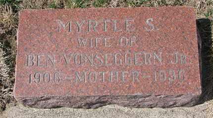 VONSEGGERN, MYRTLE S. - Cuming County, Nebraska | MYRTLE S. VONSEGGERN - Nebraska Gravestone Photos