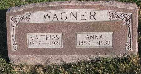 WAGNER, ANNA - Cuming County, Nebraska   ANNA WAGNER - Nebraska Gravestone Photos