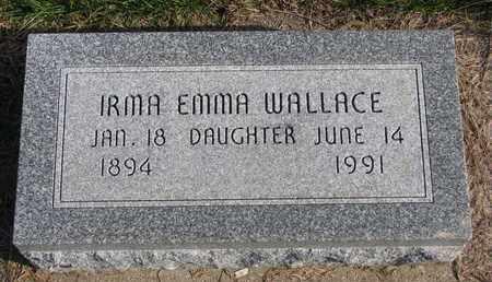 WALLACE, IRMA EMMA - Cuming County, Nebraska   IRMA EMMA WALLACE - Nebraska Gravestone Photos