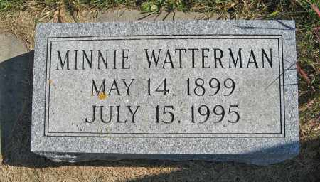 WATTERMAN, MINNIE - Cuming County, Nebraska | MINNIE WATTERMAN - Nebraska Gravestone Photos