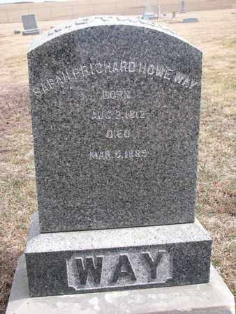 WAY, SARAH - Cuming County, Nebraska | SARAH WAY - Nebraska Gravestone Photos