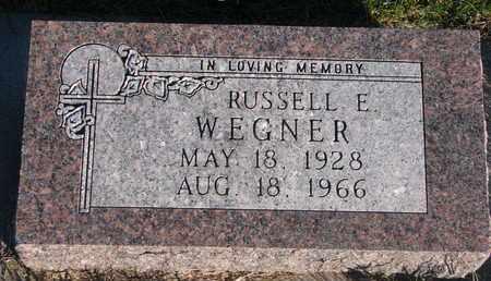WEGNER, RUSSELL E. - Cuming County, Nebraska   RUSSELL E. WEGNER - Nebraska Gravestone Photos