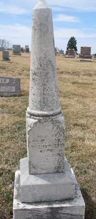 WEGNER, SON OF ??? - Cuming County, Nebraska   SON OF ??? WEGNER - Nebraska Gravestone Photos
