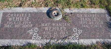 HANSEN WEHRER, MAY - Cuming County, Nebraska | MAY HANSEN WEHRER - Nebraska Gravestone Photos