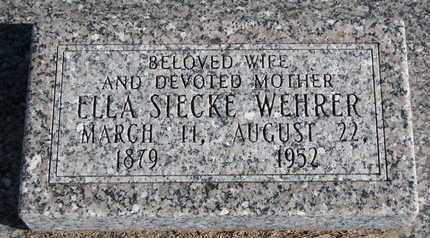 WEHRER, ELLA - Cuming County, Nebraska   ELLA WEHRER - Nebraska Gravestone Photos
