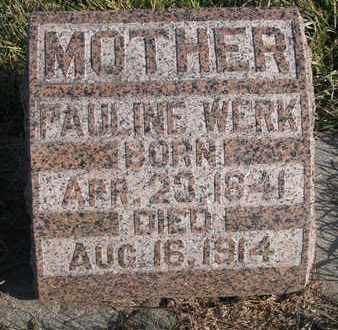 WERK, PAULINE - Cuming County, Nebraska | PAULINE WERK - Nebraska Gravestone Photos