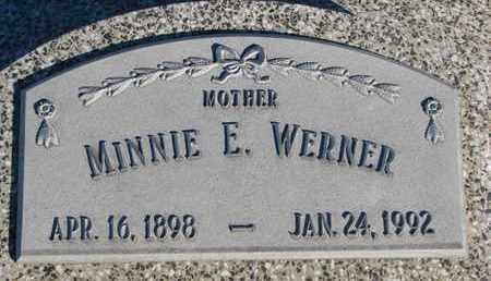 WERNER, MINNIE E. - Cuming County, Nebraska | MINNIE E. WERNER - Nebraska Gravestone Photos