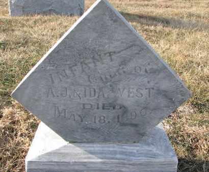 WEST, INFANT CHILDREN - Cuming County, Nebraska   INFANT CHILDREN WEST - Nebraska Gravestone Photos