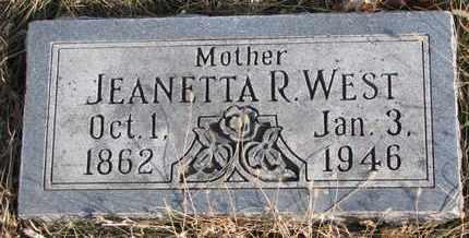 WEST, JEANETTA R. - Cuming County, Nebraska | JEANETTA R. WEST - Nebraska Gravestone Photos