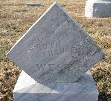 WEST, RUTH FRANCES (FOOTSTONE) - Cuming County, Nebraska | RUTH FRANCES (FOOTSTONE) WEST - Nebraska Gravestone Photos