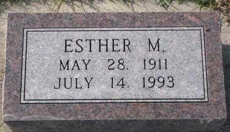 WHITE, ESTHER M. - Cuming County, Nebraska   ESTHER M. WHITE - Nebraska Gravestone Photos